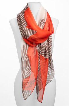 Diane von Furstenberg Washed Chiffon Wrap available at Nordstrom item #363176
