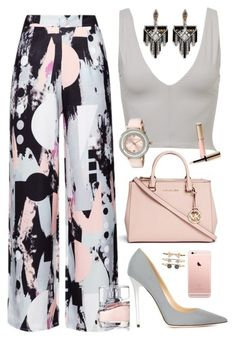 """""""#46"""" by ani-goguadze on Polyvore featuring Michael Kors, Jimmy Choo, Kookaï, Lulu Frost, Ted Baker, Accessorize, By Terry and BOSS Hugo Boss"""