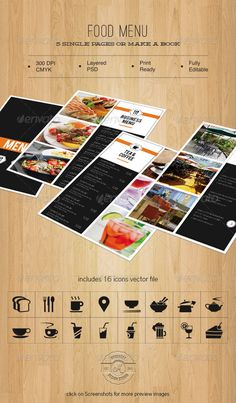 #Food #Menu  - Food Menus #Print #Templates Download here:  https://graphicriver.net/item/food-menu-/5312958?ref=alena994