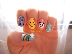 My happy colourful nails :D