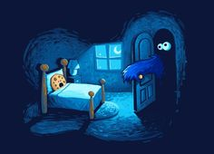 Love it Love it Love it !!!!!    Monster in the Closet by Efrem Palacios #threadless #CookieMonster
