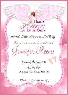 Thank Heaven for little girls baby shower by FUNDigitalDesigns, $12.50