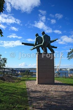 Memorial of work in the port, Kotka, Finland