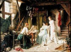 The Card Reader by Gerard Portelje c 1891