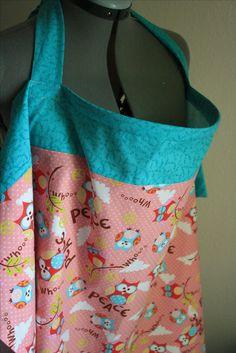 DIY nursing cover.  Love the two fabric idea!