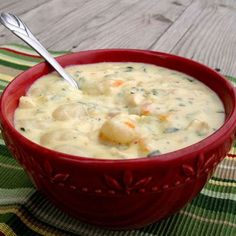 Make Chicken Gnocchi Soup (use homemade stock to avoid using bullion cubes and all that sodium, make a roux thinned w/stock and some half and half or evaporated milk in order to cut way back on the amount of half and half and you won't need the cornstarch. Add extra veggies. LT)