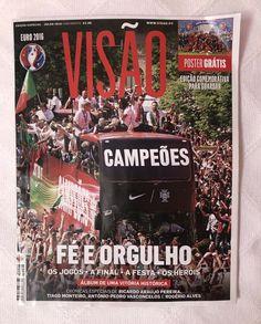 EURO 2016 PORTUGAL | VISAO Magazine Special Edition W/ Poster France Jersey, Euro, Cristiano Ronaldo Portugal, Brazil World Cup, Sports Magazine, Sports Illustrated, Poster, Continents