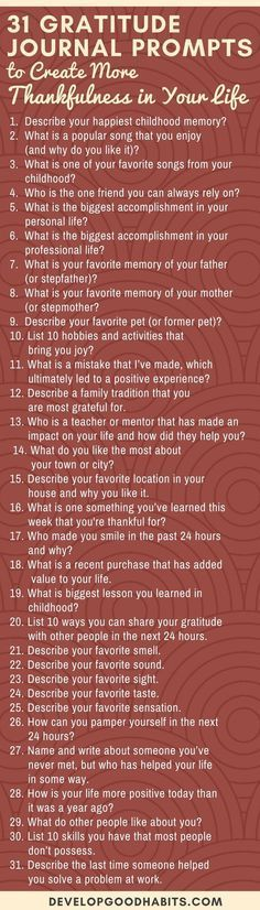 These 31 Gratitude Journal Prompts can help you start practicing gratitude. Turn it into a daily habit by committing to daily gratitude journaling. Gratitude Journal Prompts, Daily Journal, Journal Jar, Journal Questions, Attitude Of Gratitude, Journal Inspiration, Journal Ideas, Creative Writing, Self Improvement