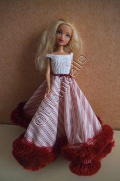 b2bd88717f6fc4 tuto gratuit barbie  le printemps de Barbie en longue robe