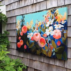 "WEBSTA @ jessfranksart - Thank you for all the kind words of encouragement as I create these floral pieces. They mostly come from my imagination, with the occasional reference photo to help understand light and shadow. The floral structures allow me to explore unexpected colors and combinations, and are an absolute blast to paint. ""Splendor No. 9"" is  24x36, deep edge canvas with all sides painted, so no frame needed. $600  ship. Message me at jessinbrooklyn@gmail.com to reserve."