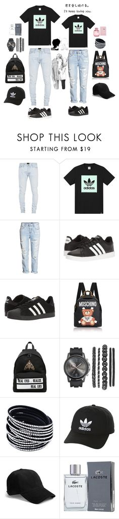 """Untitled #186"" by ihottestpm ❤ liked on Polyvore featuring Fear of God, adidas, Moschino, Givenchy, adidas Originals, rag & bone and Lacoste"