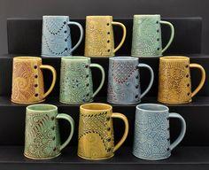 Handmade Coffee Mug Blue tea cup tea mug by Creativewithclay, $40.00