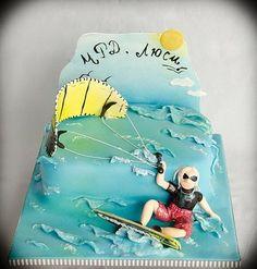 Kite surf cake