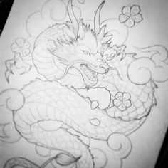 【epicmouse001】さんのInstagramをピンしています。 《Dragon tattoo design. Not really happy with the scales, so I'll redo those... #tattoo #tattoos #tattoosforever #tattoodesign #design #roughsketch #pencil #dragon #dragontattoo #cherryblossoms #clouds #thighpiece #chinesedragon #customdesign #pencildrawing #tattooapprentice #tattoogirl #art #artfromtheheart #artist #artistfromaroundtheworld #epicmouseart #epicmouse #epicmouse001》