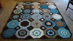 I forgot how much I love this pattern -- have magazine! Moorish Mosaic Afghan crochet pattern by Lisa Naskrent Crochet Afghans, Crochet Motif Patterns, Crochet Blocks, Crochet Yarn, Crochet Blankets, Baby Blankets, Ravelry Crochet, Learn To Crochet, Crochet Things