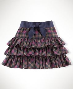 More ruffles! Ralph Lauren Girls Skirt, Little Girls Tartan Ruffle Skirt - Kids Girls 2-6X - Macy's $39.50 #MacysBTS