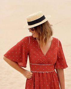 Grains de sable et petits pois Super Bison, Pretty Mercerie, Couture Sewing, Wrap Dress, Inspiration, How To Make, Clothes, Dresses, Fashion