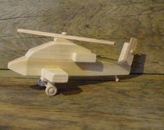 Juguete de madera hecho a mano Apache helicóptero juguetes Chopper militar niños niños niño cumpleaños regalo presente