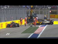 GP Russia Sochi 30th of April 2017. Geosjean and Palmer crashed in turn 2 leaving each other to little space. Grosjean did hit Palmer first and after that Palmer did hit Grosjean after being unable to get his car under control.