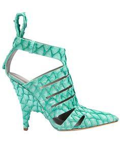 mint green Alexander Wang pump