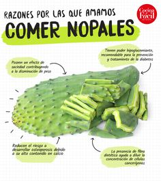 Healthy Mexican Recipes, Healthy Drinks, Healthy Eating, Diabetic Meal Plan, Diabetic Recipes, Health Diet, Health And Nutrition, Cactus Benefits, Blender Recipes