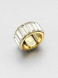 Kate Spade New York - Stone Encrusted Ring - Saks.com I Love Jewelry, Jewelry Rings, Jewelery, Jewelry Watches, Jewelry Box, Fashion Accessories, Fashion Jewelry, Jewelry Accessories, Bridal Accessories