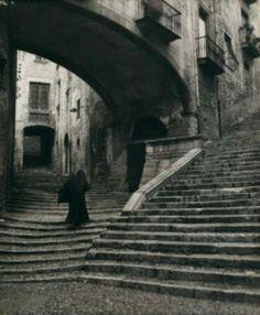Fotografia de Girona de Nicolas Muller feta al 1940.  Girona.