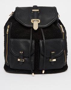 ALDO Dundas Faux Fur Backpack #TravelBright