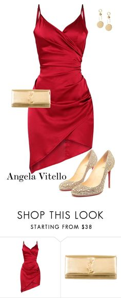 """Untitled #1094"" by angela-vitello on Polyvore featuring Christian Louboutin and Yves Saint Laurent"