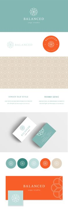 Yoga logo and wellness brand identity revolved around balance and symmetry. Geometric logo. Yoga studio branding. Business card design. Wellness logo. Geometric branding. Premade logo. Logo for sale. Full branding package. Yoga branding package.