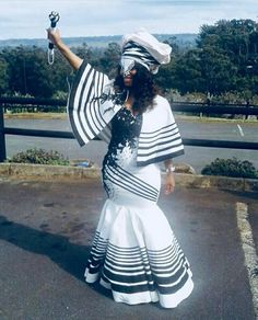 zulu traditional attire African ladies still face not solely widespr African Print Wedding Dress, African Wedding Attire, African Attire, African Wear, African Fashion Dresses, African Women, African Dress, Zulu Traditional Attire, South African Traditional Dresses