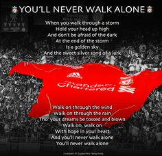 You'll Never Walk Alone - Liverpool FC Always brings a tear to my eyes, and a swelling of pride in my chest. Liverpool Fc, Liverpool Football Club, Liverpool Tattoo, Liverpool History, Real Soccer, Soccer Fans, Stevie G, Funeral Songs, Soccer