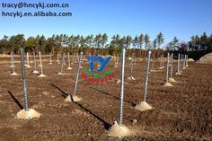 CY Solar Mounting------Screws for the ground mounting system to be installed