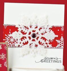 Snowflake Greetings Card by @Ivanka Lentle