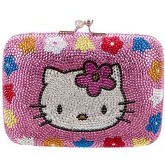 2eba74a3dfcd Pre-owned Judith Leiber Hello Kitty Minaudi re ( 825) ❤ liked on Polyvore  featuring bags