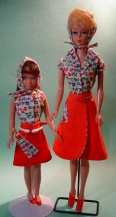 "Skipper & Bubble Cut Barbie In ""Fun At The Fair"" #1624 (1965)"