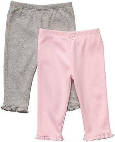 Bottoms 163175: Carters 2-Pack Pants - Pink Gray-9M -> BUY IT NOW ONLY: $38.89 on eBay!