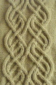Intricate Cable Panel Knit Stitch. More Great Patterns Like This