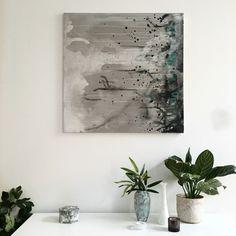 Painting by Linda Elmin/Hviitblogg.no Scandinavian Home, Green Plants, Home Accessories, Beautiful Homes, Painting, Inspiration, Decor, Art, House Of Beauty