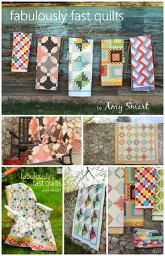 Quilts and patterns from book Fabulously Fast Quilts by Amy Smart