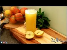 Fresh Apple Juice Amazing Juice With Ginger Honey Lemon Raw Apple Juice ! Ginger Honey Lemon, Best Chef, Fresh Apples, Salad Bar, Juice Recipes, Apple Juice, Cooking Videos, Make It Yourself, Drinks