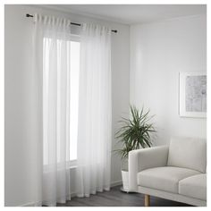 GJERTRUD Sheer curtains, 1 pair - white - IKEA