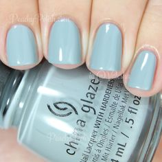 China Glaze — Intelligence, Integrity & Courage (The Giver Collection China Glaze Nail Polish, Super Nails, Gel Nails, Nail Polishes, Nail Polish Colors, Blue Nails, Trendy Nails, Natural Nails, Swatch