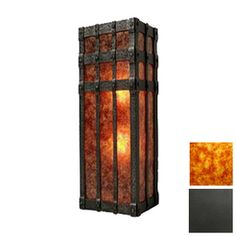 Steel Partners San Carlos Open 2 Light Wall Sconce Shade Color: Slag Glass Pretended, Finish: Old Iron