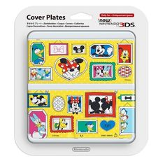New Nintendo 3DS Cover Kisekae Plate No.074 Mickey & Minnie Fast Delivery Japan #Nintendo