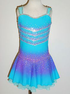 BEAUITIFUL AND LOVELY ICE SKATING DRESS SIZE CUSTOM MADE TO FIT