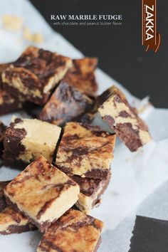 Vegan raw marble fudge