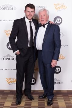 Danny Miller and his dad Vince Miller at his Once Upon A Smile Grand Ball... | Danny Miller Fansite