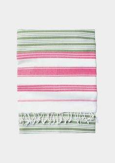 Striped Hammam towel - Very light, striped cotton towel from Turkey. Good for home or travel – packs small and dries quickly. { Spring Break }