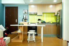 New York-inspired design for a 50sqm one-bedroom condo Real Living Philippines